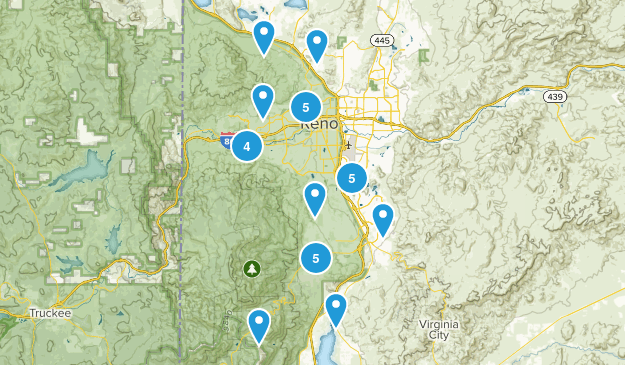 Reno, Nevada Mountain Biking Map