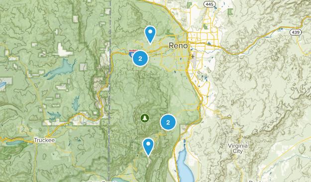 Reno, Nevada Snowshoeing Map