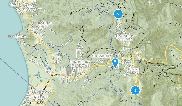 Stateline, Nevada Mountain Biking Map