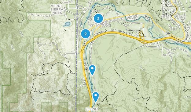 Verdi, Nevada Wild Flowers Map