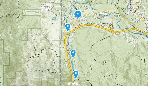Verdi, Nevada Wildlife Map