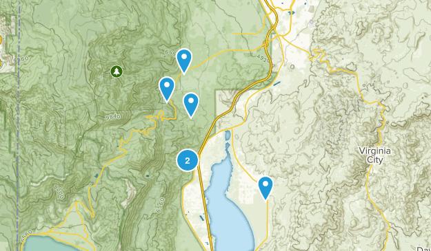 Washoe Valley, Nevada Horseback Riding Map