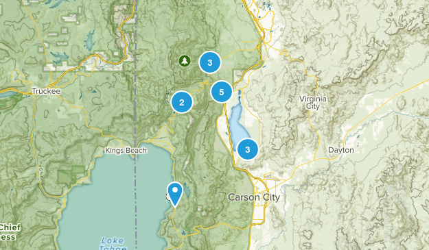 Washoe Valley, Nevada Wildlife Map