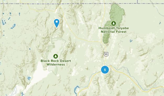 Winnemucca, Nevada Hiking Map