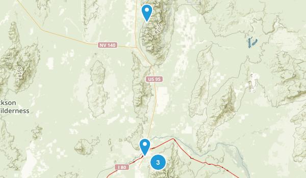 Winnemucca, Nevada Walking Map