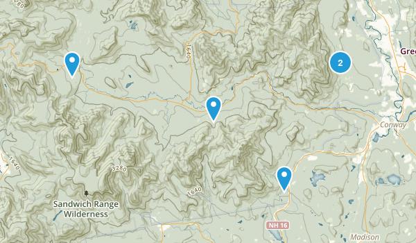 Albany, New Hampshire Hiking Map