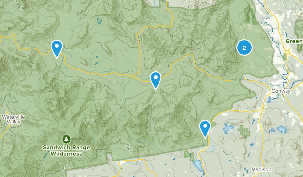 Albany, New Hampshire Nature Trips Map