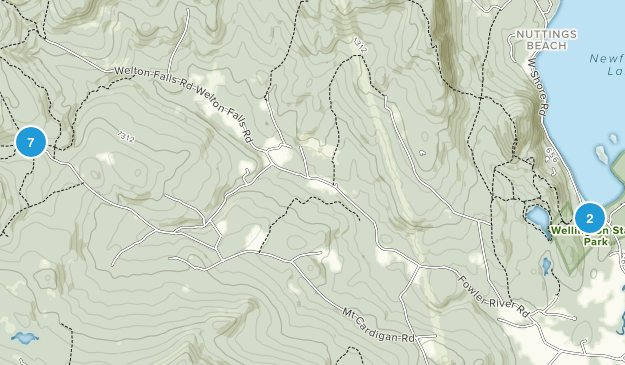 Alexandria, New Hampshire Views Map
