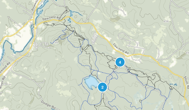 Allenstown, New Hampshire Hiking Map