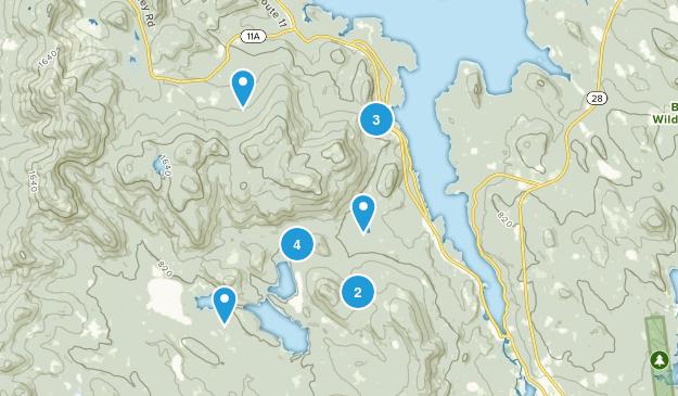 Alton Bay, New Hampshire Hiking Map