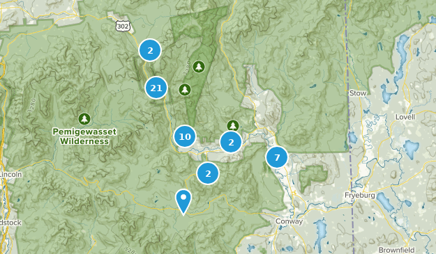 Bartlett, New Hampshire Hiking Map