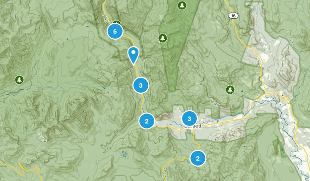 Bartlett, New Hampshire Nature Trips Map