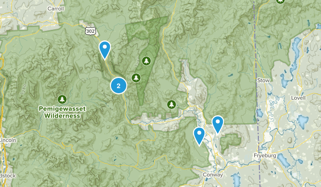 Bartlett, New Hampshire Snowshoeing Map