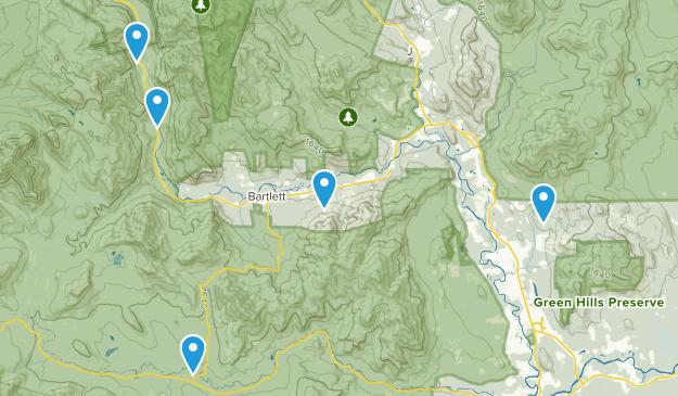 Bartlett, New Hampshire Trail Running Map