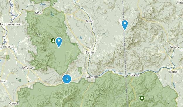 Berlin, New Hampshire Trail Running Map
