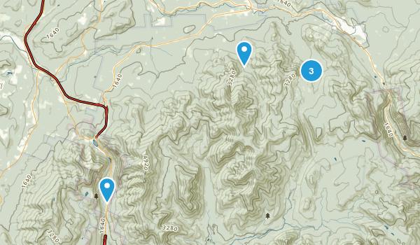 Bethlehem, New Hampshire Backpacking Map