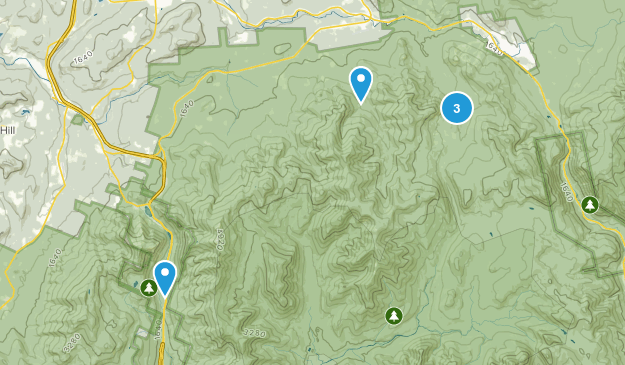 Bethlehem, New Hampshire Camping Map