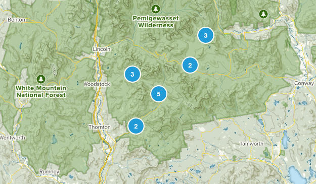 Campton, New Hampshire Hiking Map