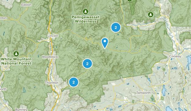 Campton, New Hampshire Nature Trips Map