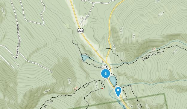 Carroll, New Hampshire Hiking Map