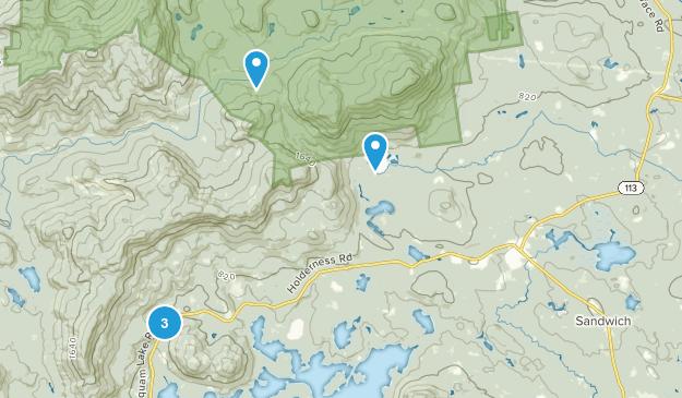 Center Sandwich, New Hampshire Birding Map