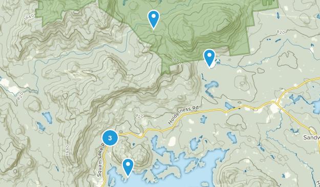 Center Sandwich, New Hampshire Walking Map