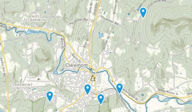 Claremont, New Hampshire Birding Map