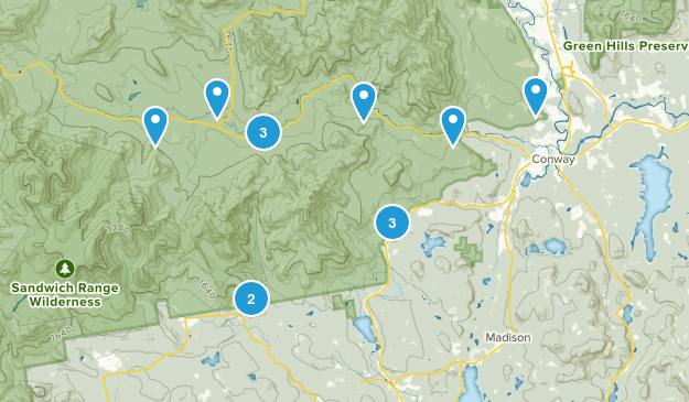 Conway, New Hampshire Birding Map