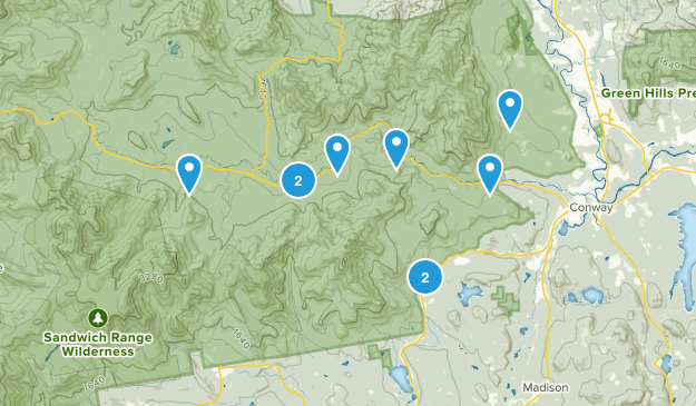 Conway, New Hampshire Wildlife Map