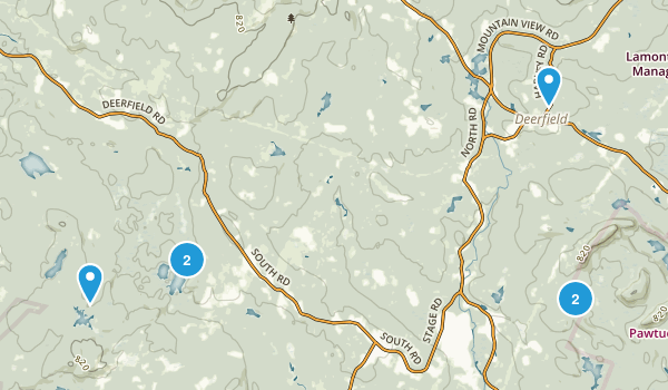 Deerfield, New Hampshire Birding Map