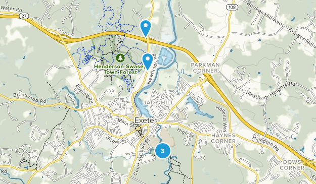 Exeter, New Hampshire Trail Running Map