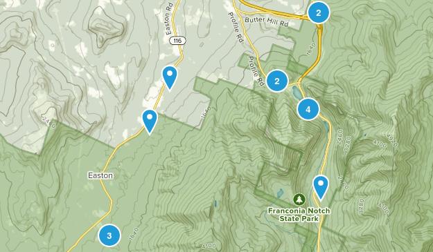 Franconia, New Hampshire Birding Map