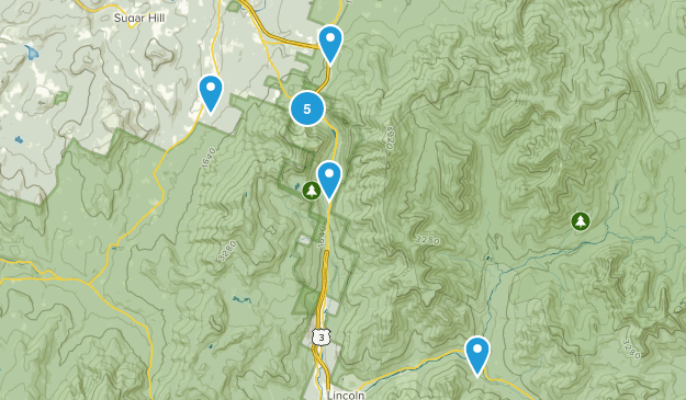 Franconia, New Hampshire Dogs On Leash Map