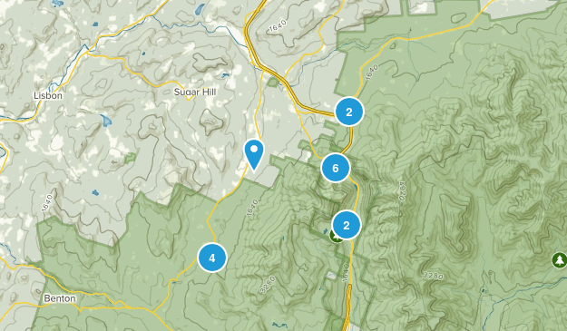 Franconia, New Hampshire Hiking Map