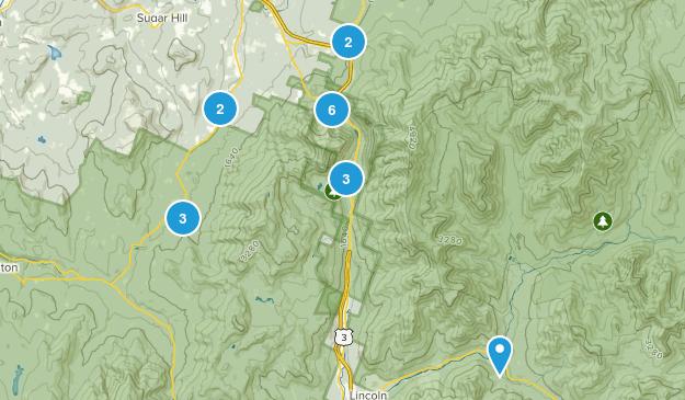 Franconia, New Hampshire Views Map