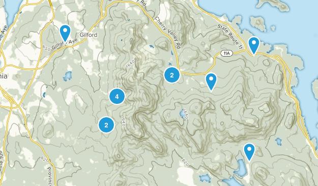 Gilford, New Hampshire Birding Map