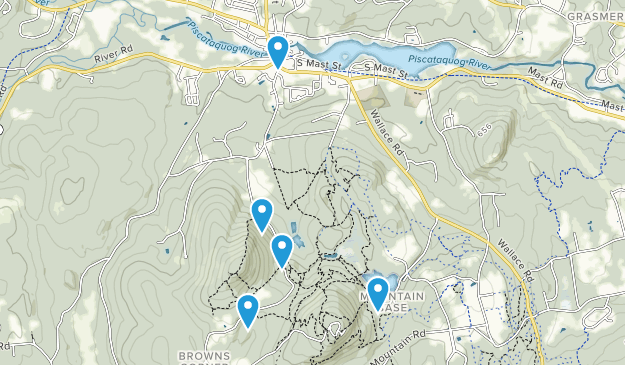 Goffstown, New Hampshire Walking Map