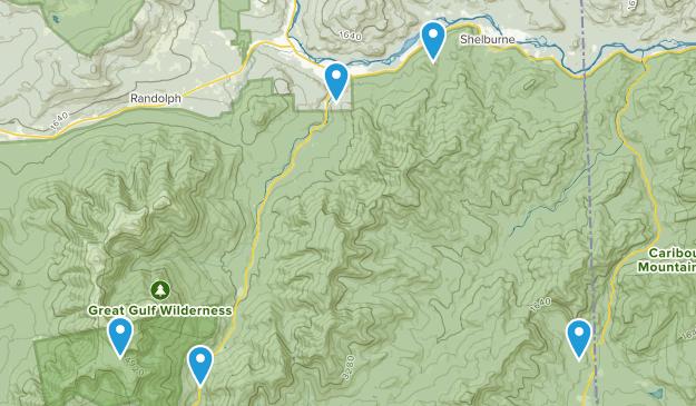 Gorham, New Hampshire Camping Map
