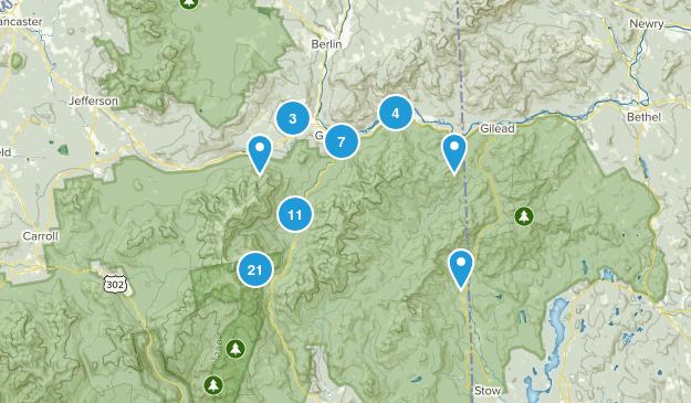 Gorham, New Hampshire Hiking Map