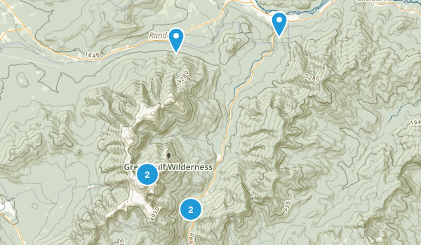 Gorham, New Hampshire Snowshoeing Map