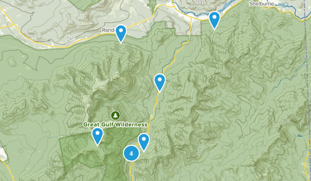 Gorham, New Hampshire Waterfall Map