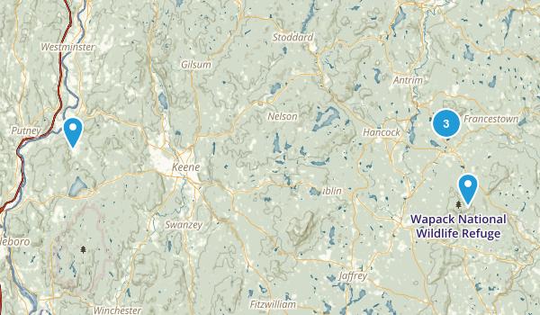 Greenfield, New Hampshire Birding Map