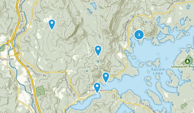 Holderness, New Hampshire Hiking Map
