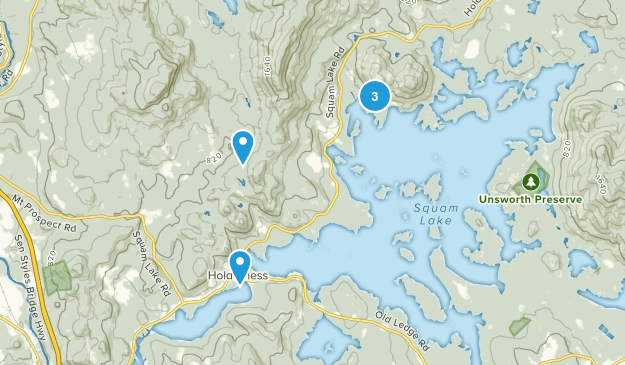 Holderness, New Hampshire Nature Trips Map