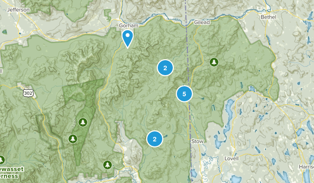 Intervale, New Hampshire Hiking Map
