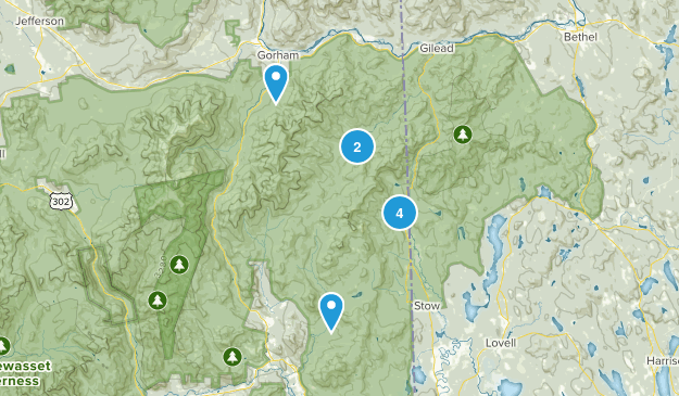 Intervale, New Hampshire Nature Trips Map