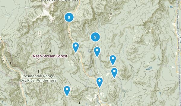 Jackson, New Hampshire Hiking Map