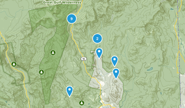 Jackson, New Hampshire Nature Trips Map