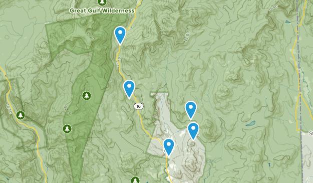 Jackson, New Hampshire Trail Running Map