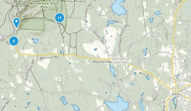 Jaffrey, New Hampshire Birding Map